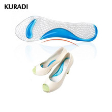 Women Silicone Gel Insoles Non Slip Length Arch Support Feet Massaging Metatarsal Cushion Orthopedic Pad for High Heels Shoes
