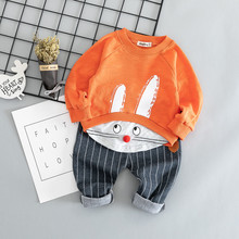 Cotton autumn active casual cartoon kid suit children set baby clothing boys clothing girl clothing baby clothes clothing set