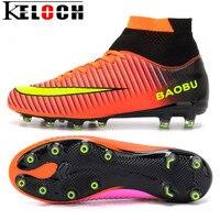 Keloch Boyutu 33-45 Yüksek Kalite Erkekler Futbol Ayakkabı Su Geçirmez Açık yüksek Üst Ayak Bileği Futbol Çizmeler Erkekler Için Boy Çocuk Futbol ayakkabı