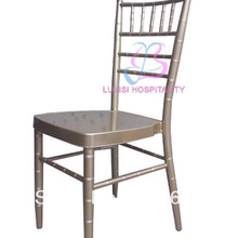 Champagne aluminum tiffany chair strong comfortable fashion