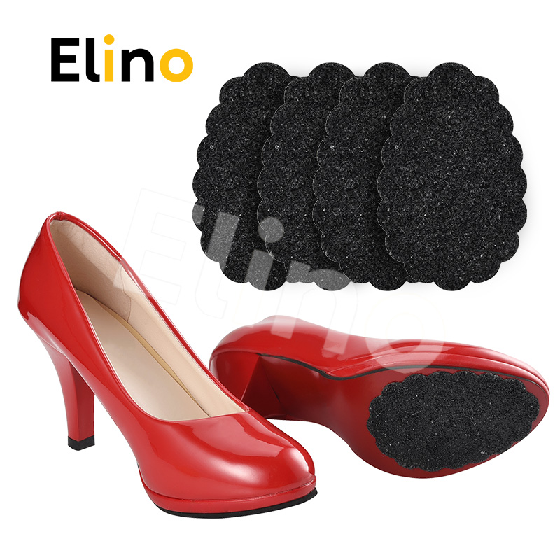 Elino Tight Self-Adhesive Ground Grip Shoes Pad for Girls Women High heels Anti Slip Half Soles Outsole Protective Forefoot Pad стоимость