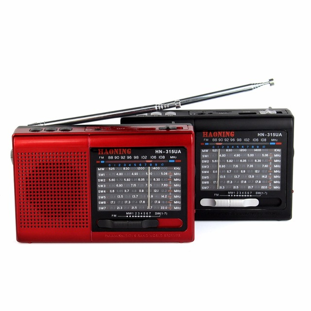 Portable FM/MW/SW Radio Multiband Radio Receiver MP3 Music Player Radio Station with Rechargeable Battery Y4403