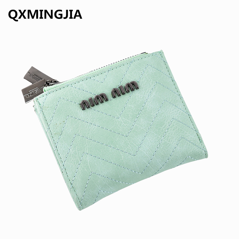 New PU Leather Wallet Luxury Brand Women Small zipper Wallets Female Card Holder Pocket  Coin Purse for Gifts D2035-1 women cute cat wallet small zipper girl wallet brand designed pu leather women coin purse female card holder wallet