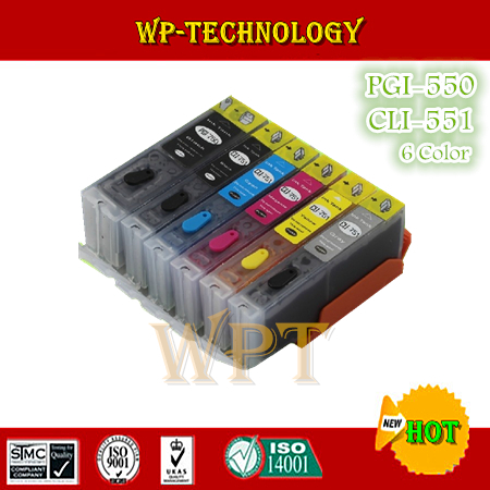 6 цветов полный чернильный картридж для PGI550 CLI551, Костюм для Canon IP7250 MG6350 MG5450 MX925 MX725 MG7150 MG6450 iP8750