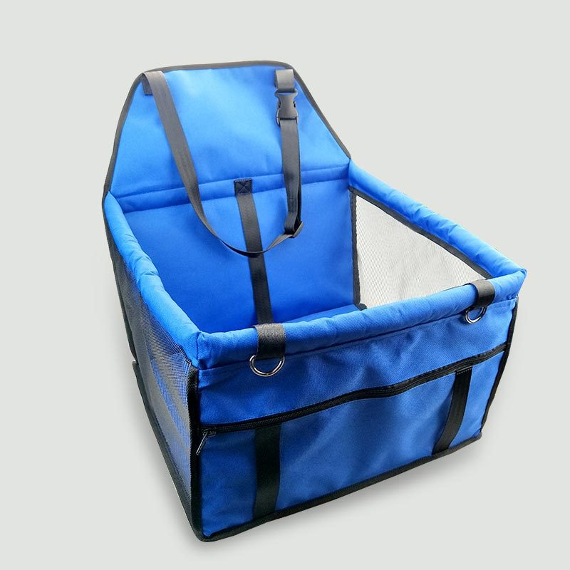 Top quality Foldable pet carrier dog bag for small dogs Waterproof Safety Front Back Seat Dog Cat Car Hammock Carrier Basket (5)