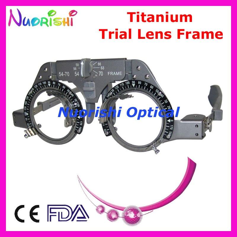 XD02 óptico titanio de Optometría oftálmica juicio lente de luz peso más bajo los costos de envío
