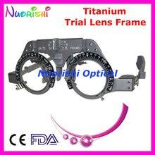 XD02 Titanyum Optik Optometri Oftalmik Deneme Lens Çerçevesi Hafif En Düşük Nakliye Maliyeti