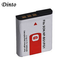 Dinto 1400 мА/ч, NP-BG1 NP-FG1 NPBG1 NPFG1 Перезаряжаемые литий-ионный аккумулятор цифровой Камера Батарея для Sony комплектующие фотоаппарата Sony DSC H3 H5 H7 W70 W80 ...