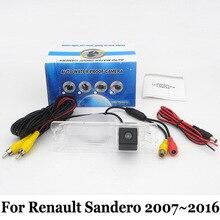Для Renault Sandero 2007 ~ 2016/RCA AUX Проводной Или Беспроводной Заднего вида камера/HD Широкоугольный Объектив/CCD Ночного Видения Резервную Камеру