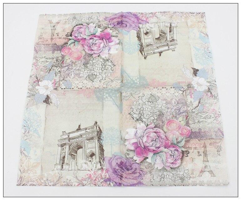[RainLoong] Turm Papierservietten Rose Festliche & Party Tissue - Partyartikel und Dekoration - Foto 6