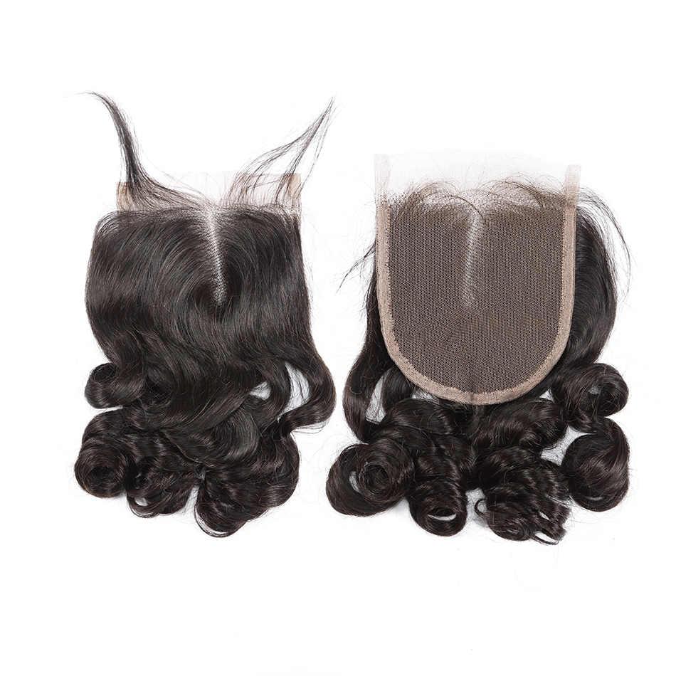 Pelo ILARIA visón brasileño onda suelta cabello virgen 4 paquetes con cierre 100% paquetes de tejido de cabello humano con encaje cierre