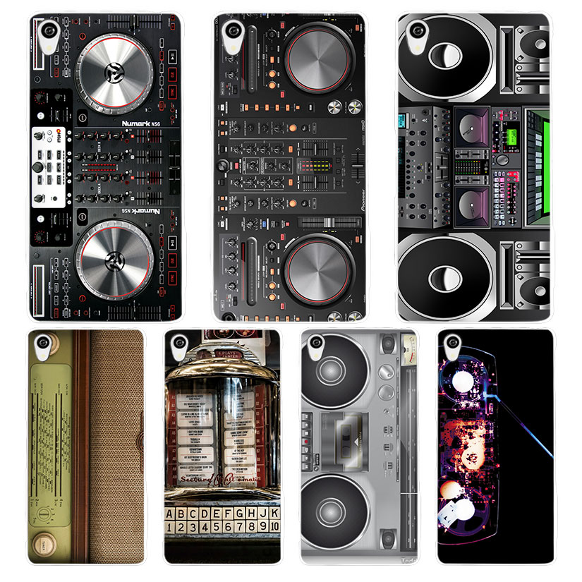 DJ Radio Old White Phone Case Cover for Sony Xperia Z1 Z2 Z3 Z4 Z5 M4 Aqua C4 XA XZ E4 E5 L36H