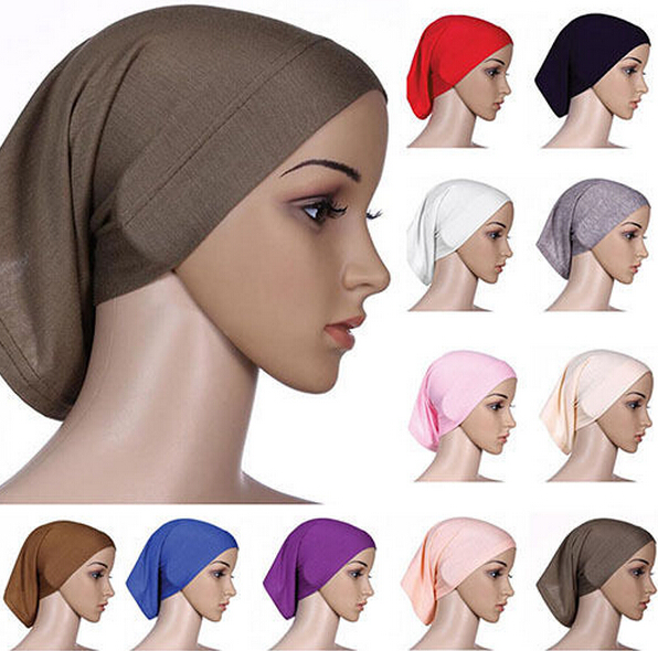 Moslima Islamic Muslim Bonnet Head Scarf Women Headwrap Cotton Underscarf Hijab Cover Ladies Headwrap Bonnet Female Daily Wrap