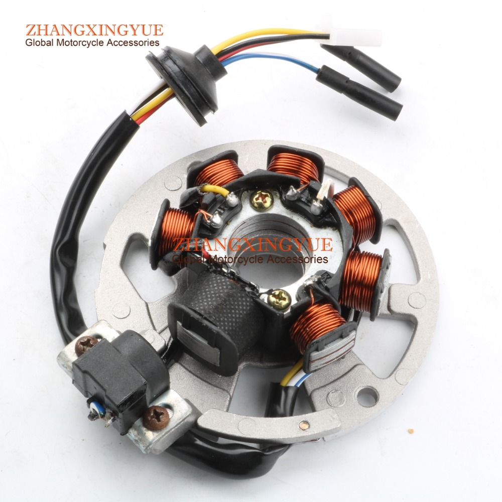 New 7 Coil Stator Rotor Ignition Assembly 50cc 2 Stroke Minarelli 1pe40qmb