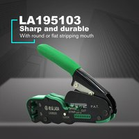 LA195103 Crimping Plier Network Tools Portable Multifunction Cable Stripper Wire Cutter Cutting Crimping Pliers Terminal Tool