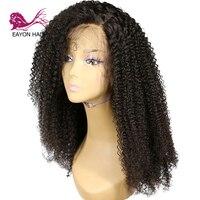 EAYON волосы remy волосы 360 синтетический фронтальный парик человеческих волос глубокий кудрявый для черных женщин с волосами младенца 130% плотн