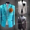 Мужчины blazer мужские костюмы куртки случайные костюмы куртки Блестками Куртка для Мужчины Выпускного Вечера Костюмы костюм homme mariage