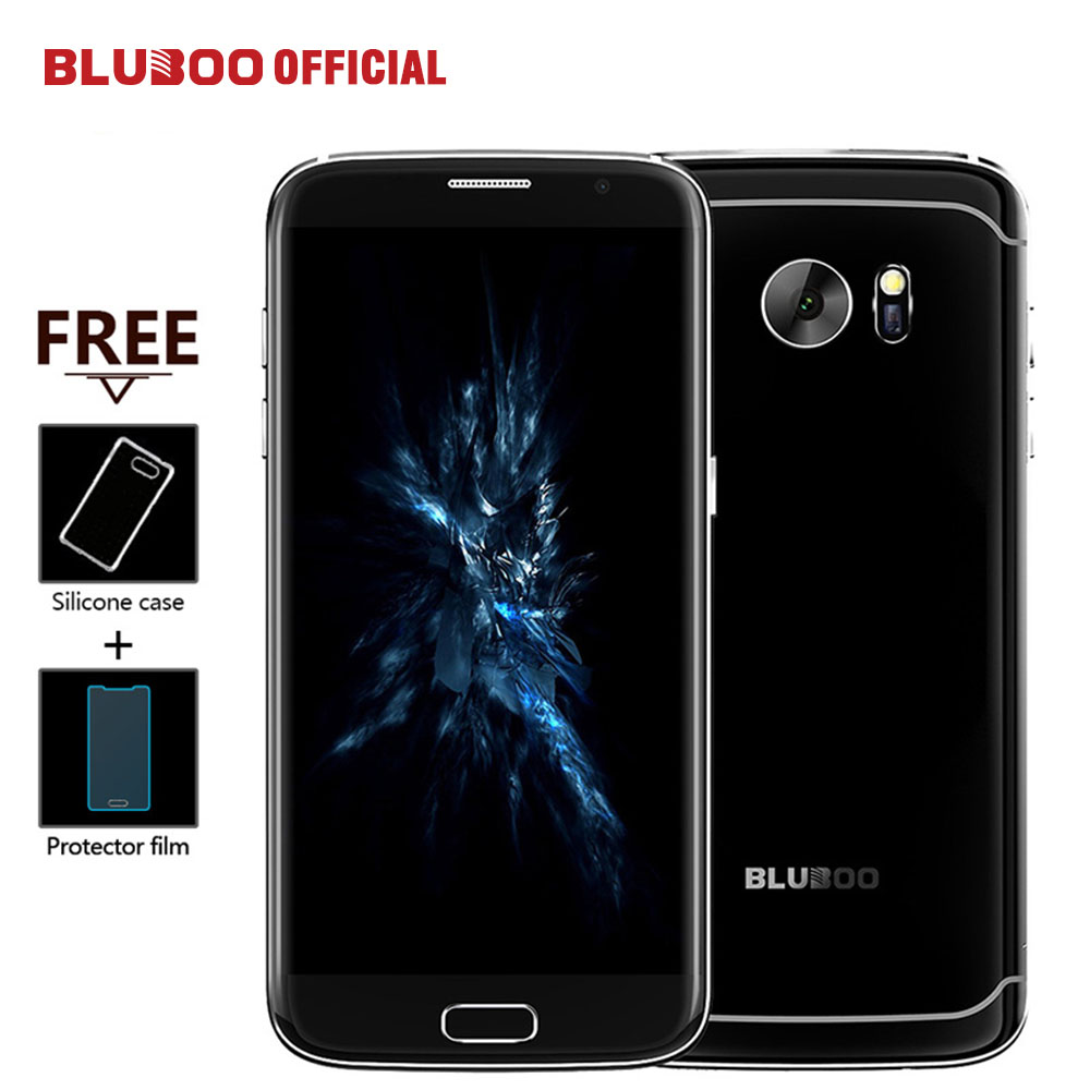 "BLUBOO Edge 5.5""HD Mobile Phone Double Sided Curvy 4G LTE MTK6737 Quad Core 2G + 16G 13MP Android 6.0 OTG Fingerprint Cell phone"