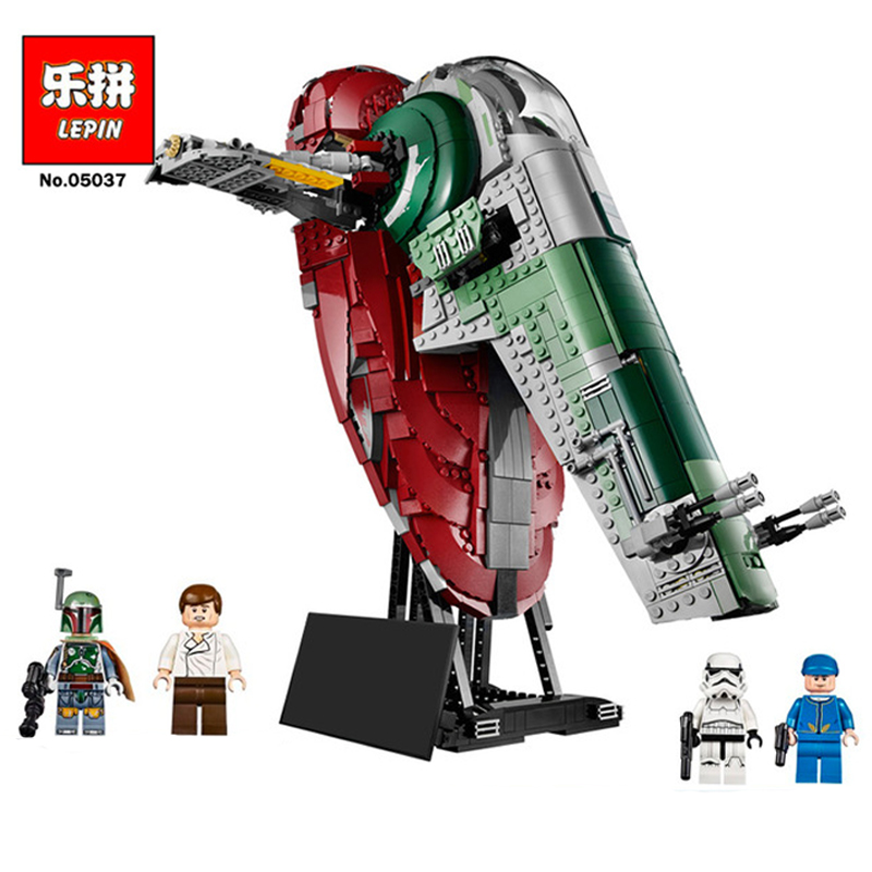 Lepin 05037 UCS Slave Toys NO.1 Model 2067pcs Star Wars Building Block Bricks Toys Kits Compatible legoing 75060 Children Hediye lepin 05037 star wars ucs slave i slave no 1 model 2067pcs minifigure building block toys 100