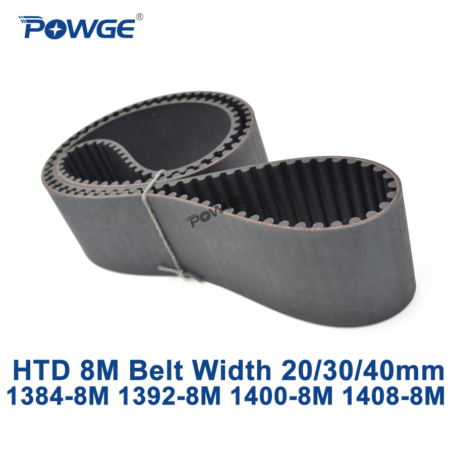 POWGE HTD 8M synchronous Timing belt C=1384/1392/1400/1408 width 20/30/40mm Teeth 173 174 175 176 HTD8M 1384-8M 1392-8M 1400-8M powge htd 8m synchronous belt c 520 528 536 544 552 width 20 30 40mm teeth 65 66 67 68 69 htd8m timing belt 520 8m 536 8m 552 8m