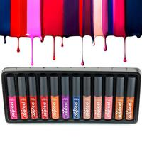 Popfeel Lip Gloss 12 Colors Set Long Lasting Moisturizing Waterproof Woman Matte Liquid Lipstick Nude Lip