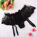 Mujeres Sexy Garter Girls Lace Floral Suspensor G-String Hold Stocking Ligueros