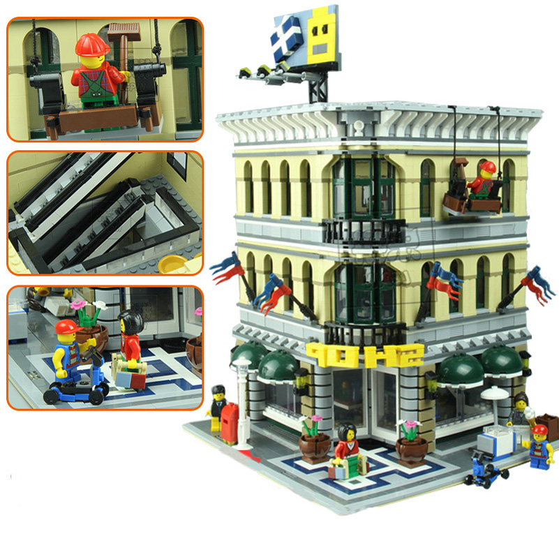 Lepin City Street Series Building Blocks Set Figure Grand Emporium Model 2232pcs Bricks Toys For Children Christmas Gifts 15005 ynynoo lepin 02043 stucke city series airport terminal modell bausteine set ziegel spielzeug fur kinder geschenk junge spielzeug