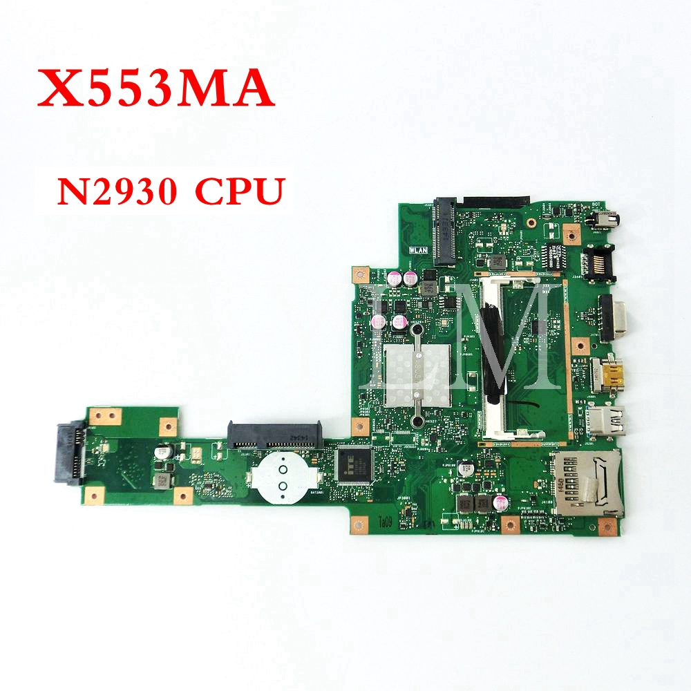 X553MA With N2930 CPU mainboard REV2.0 For ASUS F503M X503M F553MA X503MA D503M X553M X553MA Laptop motherboard Tested Working new laptop dc power jack socket for asus d553m f553ma x453ma x553 x553m x553ma series charging port connector