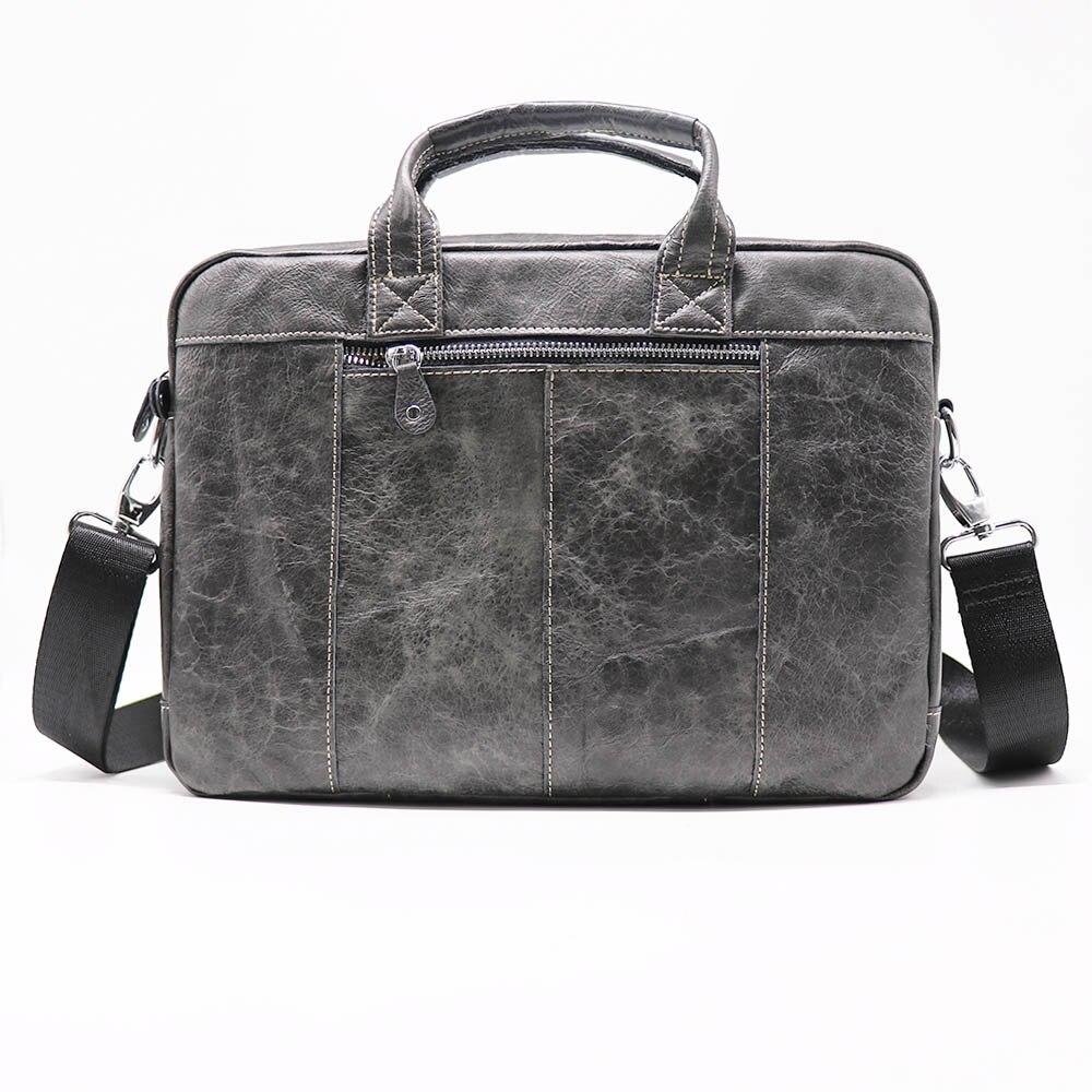 US Men/'s Genuine Leather Messenger Briefcase Bags Crossbody Handbag Shoulder Bag