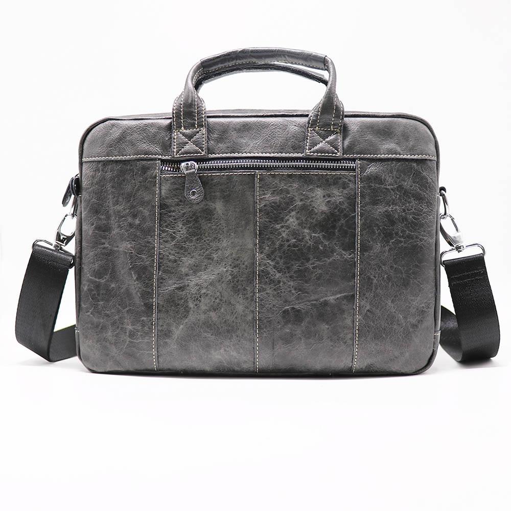 New 13' Business Handbag Briefcase Genuine Leather Men's Sho