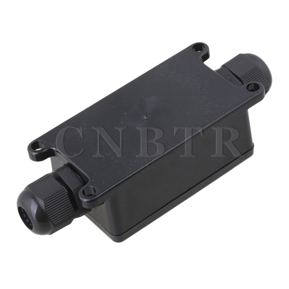 Waterproof Black Ip65 Pa9 03 Terminal Outdoor 2 Cable Plastic Box Industrial Electrical Junction Cnbtr In Terminals From Home Improvement On Alibaba Group