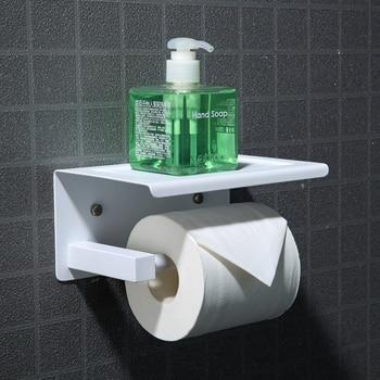 New Bathroom Toilet white stainless steel Paper holder Hotel Paper roll holder Tissue box