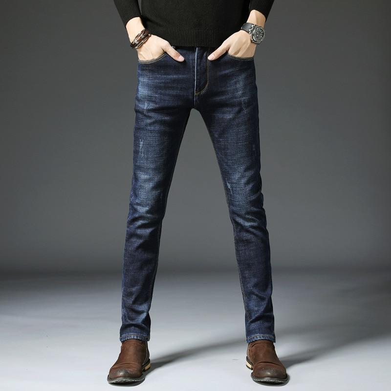 DN Stretch   Jeans   female washed denim skinny pencil pants Pants Brand Designer Big Pocket Military Cargo Pants 2UB101-110