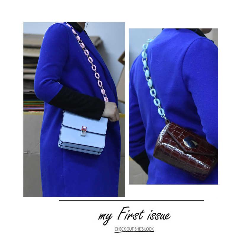 Мм любят Цветной акриловый ремешок смолы на молнии; женские дизайнерские сумки из натуральной кожи на ремешке Очаровательная Женская Наплечные ремни для сумок легко застёгивающийся милые полосатые A366