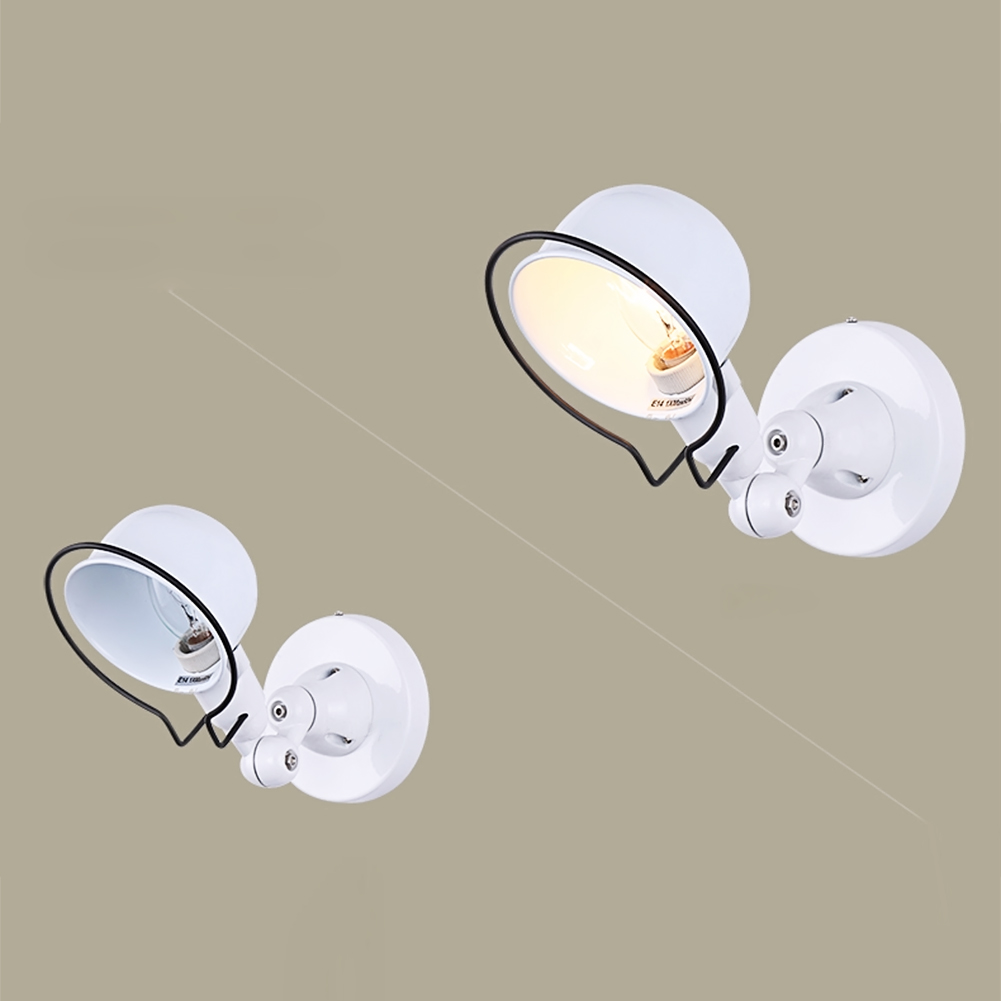 цены  2 Colors Modern Iron Wall Lamp Adjust Angle Arm Bedroom Study Room Work Place E14 AC110V-240V Wall Light Sconces Fixtures