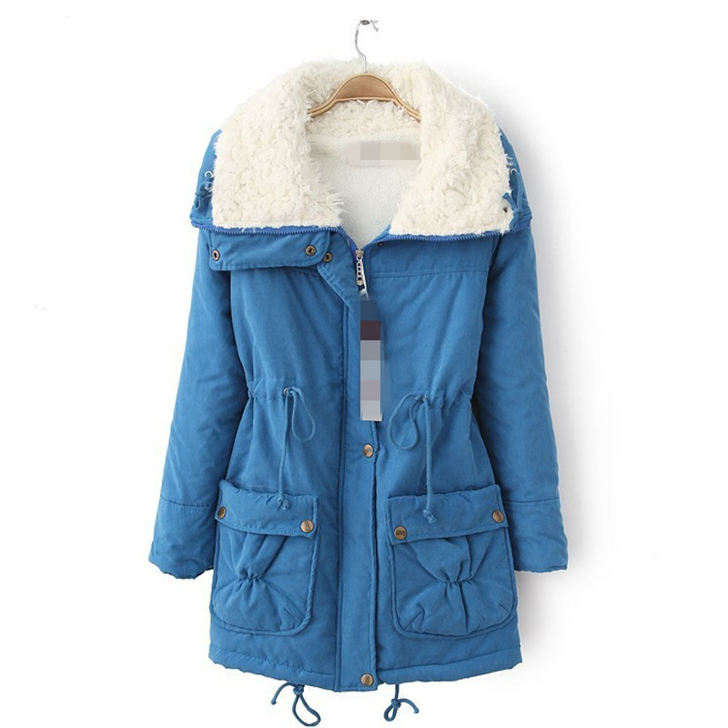 ФОТО New style Casacos de inverno feminino,cotton parka,thick casacos femininos,winter jacket,female overcoat,fashion parkas TT1419