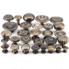 1х античный бронзового цвета из цинкового сплава мебельная Ручка Шкаф Тянет ручки ящика