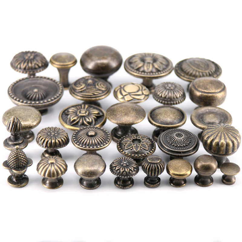 1x Antique Bronze Zinc alloy furniture knob cabinet pulls drawer handle knob