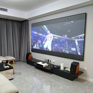 Image 5 - Ortam Işığı Reddetme ALR Ince Çerçeve 84 92 100 inç Projeksiyon Ekranı Için WEMAX Bir Sony Ultra Kısa Mesafeli UST projektörler