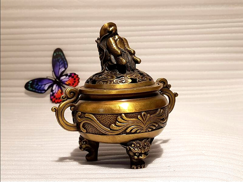 Chinese bronze faucet incense burner faucet incense burner collection (5)