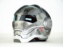 Livraison gratuite Top ABS Moto biker Casque ktm MASEI Iron Man personnalité spécial mode moitié ouvert visage motocross casque F22