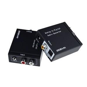 Image 2 - Аналоговый цифровой аудио преобразователь SGEYR ADC аналоговый RCA L/R 3,5 мм на SPDIF коаксиальный аудио преобразователь с входом 3,5 мм