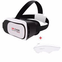 VR CASE 3D Video Glasses VR Headset VR box 2.0 Virtual reality Glasses for 3.5″-6.0″ Smart Phone+Bluetooth Remote controller