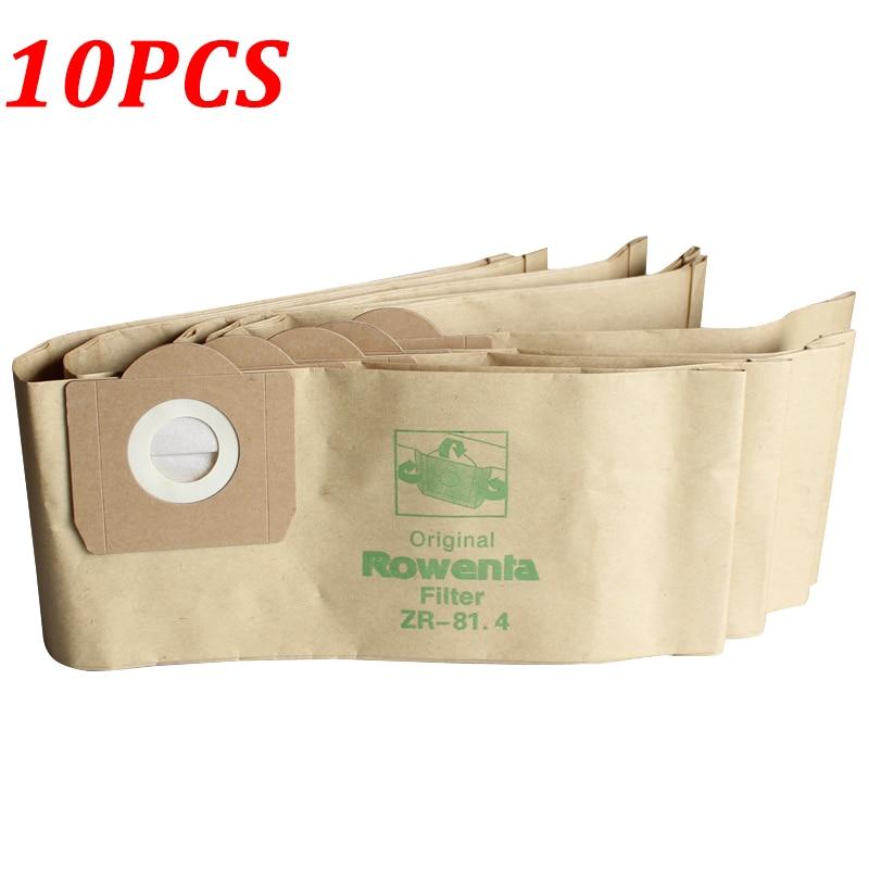 Bolsas de polvo de 10 piezas para Karcher WD3 WD3200 WD3300 MV3 A2204 A2656 bolsas de papel de filtro de aspiradora para Rowenta RB88 RU100 RU101