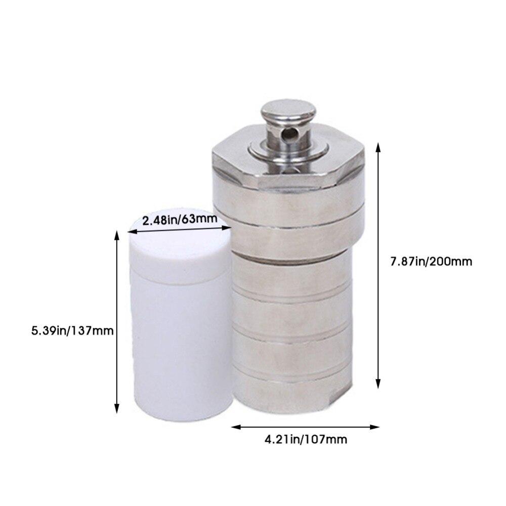 Synthèse hydrothermale doublée de téflon de chambre de réservoir d'acier inoxydable de PTFE de réacteur d'autoclave de 200 ml à haute pression