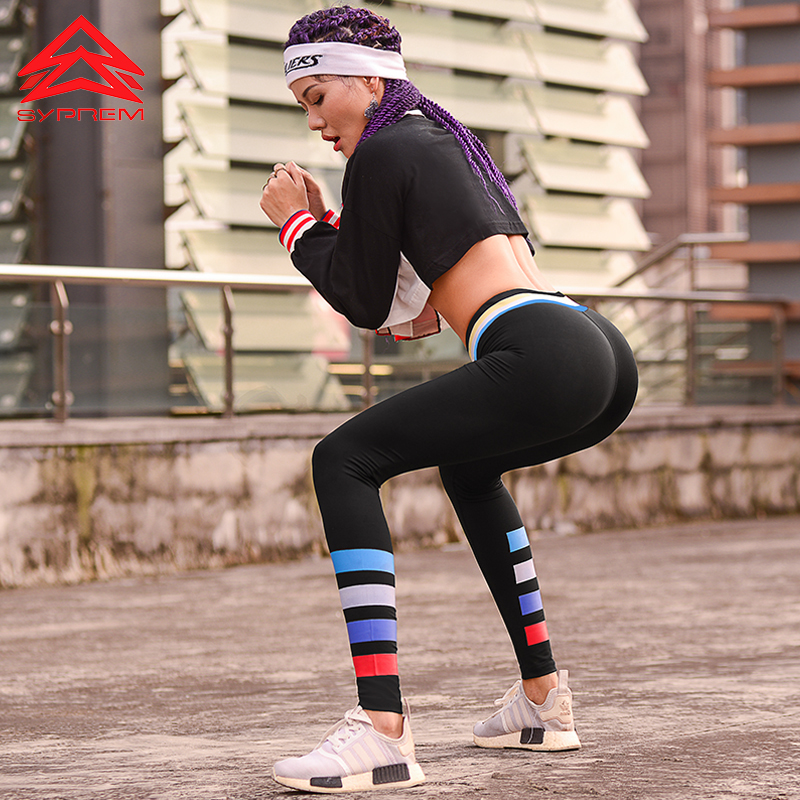 Syprem Female Fitness Running Long Jogging Trousers Gym Slim Leggings Women Compression Yoga Pants Gear Sports Exercise Tights