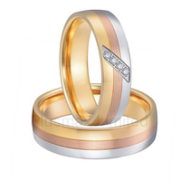 alliances China Manufacturer shopping tricolor classic private new design titanium steel wedding rings for men and women