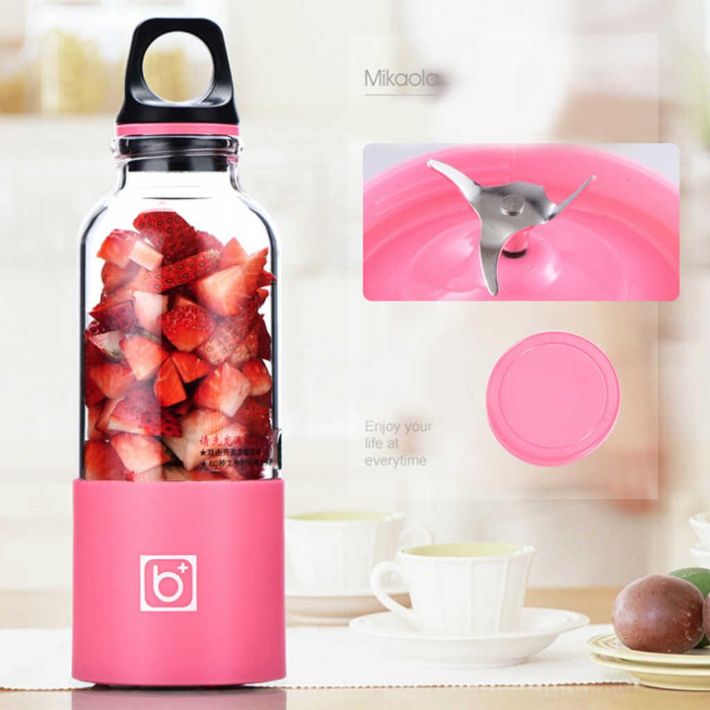 500 ml Copo Espremedor de Frutas Liquidificador Elétrico Portátil USB Recarregável Mini Liquidificador Espremedores Extrator de Máquina Do Smoothie Criador