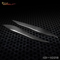 For 05 09 Toyota Crown Carbon Fiber Headlight Cover Eyelids Eyebrows 1011128