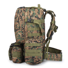 50L Men Camouflage Backpack Military Survival Rucksack Men's Travel Mountaineering Bag Large Capacity Luggage Bags mochila